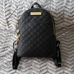 Marc New York leather quilted backpack purse